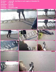 nylonwife nylonwife - Am Rhein in Lack Leggins in Düsseldorf Thumbnail